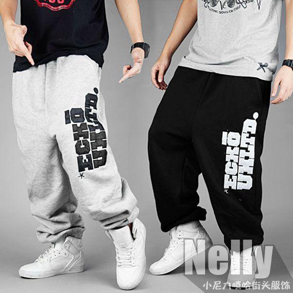 Хип-хоп джинсы хип-хоп мужской би-бой хип-хоп брюки танец свободного покроя брюки