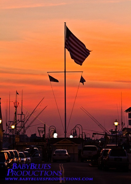 """Red sky at night, sailor's delight. Red sky at morning, sailor's warning."" Ocean City Maryland Fishing Pier"