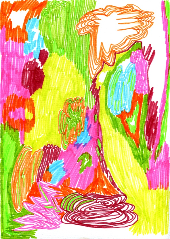 Drawing, 2013  Texta on paper.