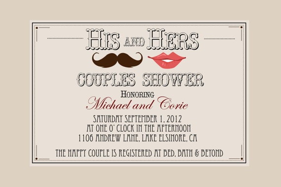 12 best images about coed couples bridal shower ideas on for Wedding couples shower invitations