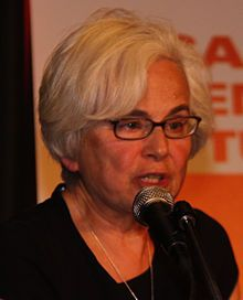 Ellen Meiksins Wood (12 April 1942 in New York City – 13 January 2016) was a Marxist historian and scholar. In 2014, she married Ed Broadbent, former leader of the New Democratic Party of Canada, with whom she lived in Ottawa and London for six years until her death from CANCER at the age of 73.