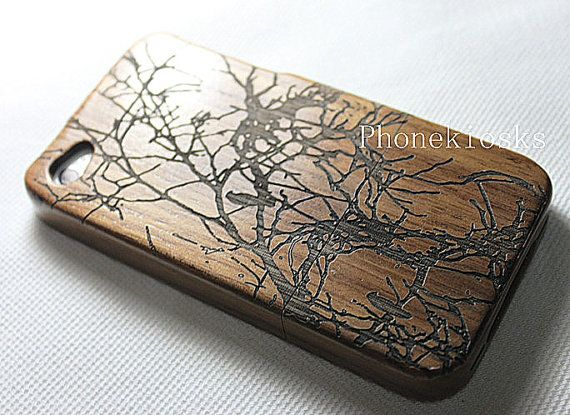 Natural Wood iPhone 4 Case iPhone 4s Case  Engraved by PhoneKiosks, $19.50