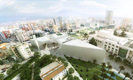 Cultural centre in Tirana by BIG