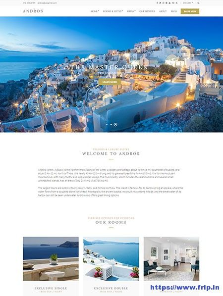 New Theme: Andros Hotel WordPress Theme By Cssigniter Themes  Link: https://www.frip.in/andros-hotel-wordpress-theme/  #hotelwordpresstheme