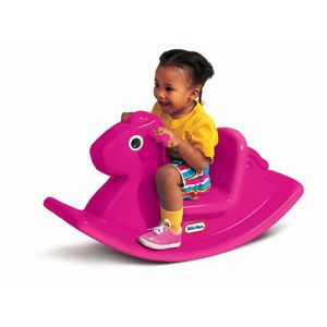 My baby girl wants this Little Tikes Rocking Horse badly, even after we bought her a Plush Rocking Horse!