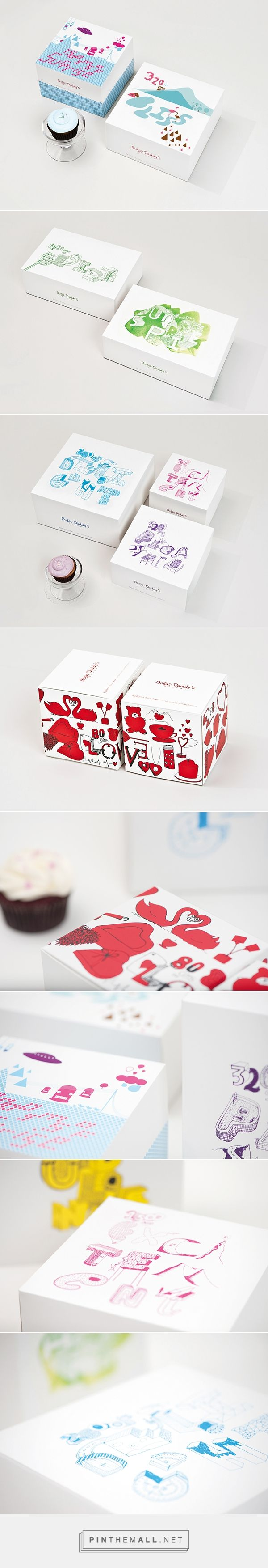 Cake Box Packaging design on Behance by Kapil Bhimekar curated by Packaging Diva PD. Sugar Daddy's bakery is famous for its unique cupcakes. The bakery wanted this uniqueness to reflect in their packaging too
