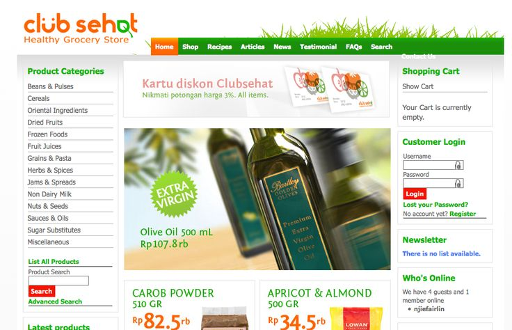 http://www.clubsehat.com Jakarta Healthy Grocery Store
