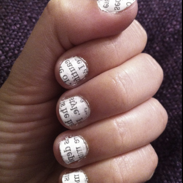 newspaper nails: Fashion, Nails Newspaper, Neat Nails, Nailideasss 3, Newspaper Nails So, Tattoos Piercings Makeup Nails, Nails Accessories Hair, Beauty, Clothes Nails Swimsuits Misc