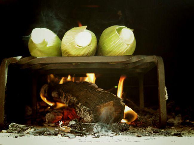 morsoアウトドアオーブンで「焼きモロコシ」