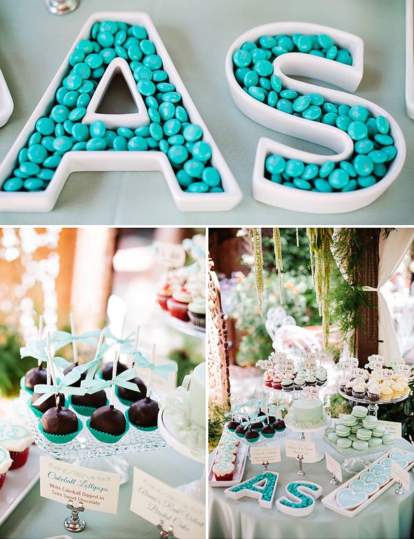 sweet chic teal bridal shower luncheon