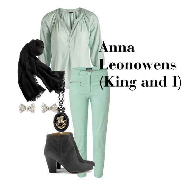 """anna leonowens (king and i) casual"" by hazel-jordan on Polyvore"
