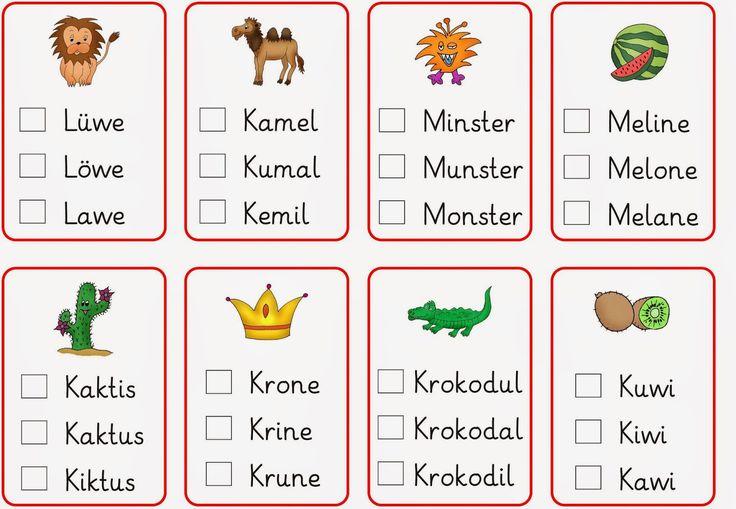 Lernstübchen: Wörter - Unsinnswörter lesen (2)