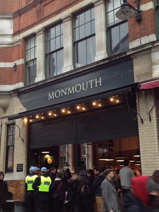 "Monmouth Coffee Company in Greater London, Greater London featured in Elena Damiani's ""London."" http://www.coleccioncisneros.org/editorial/artists-cities/elena-damiani-london"