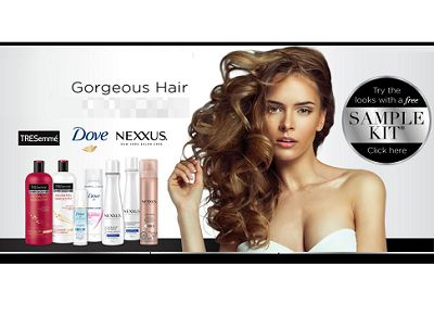 Get Your Free Sample Kit  Sign up now to order your free sample kit containing best-selling hair care & styling products from Dove, TRESemme® and Nexxus® to help you get this summer's hottest looks! Get yours today.