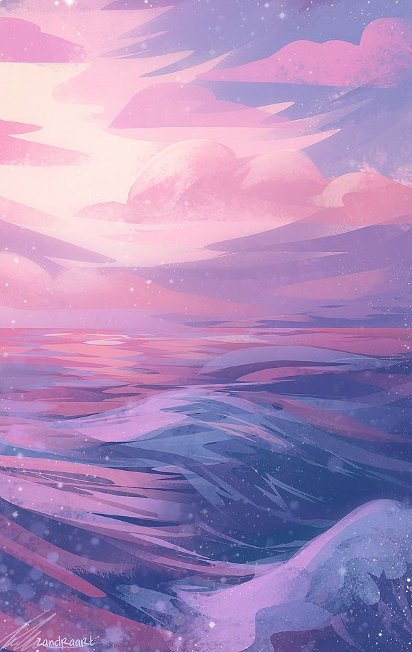 zandraart: pastel waves
