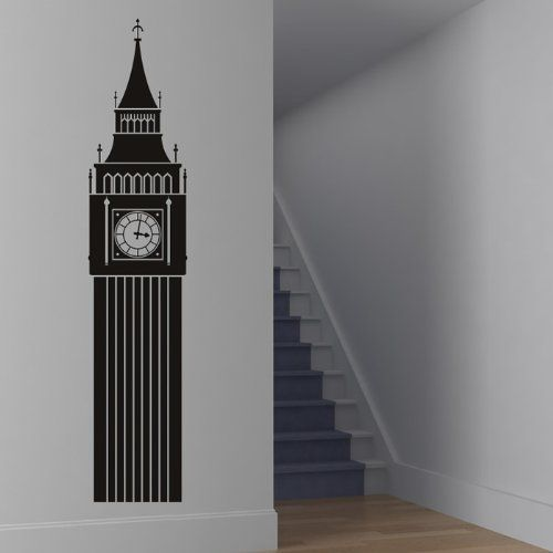 Big Ben Wall Stickers London Landmark Wall Decal Art available in 5 Sizes and 25 Colours Large Gold Metallic IconWallStickers http://www.amazon.co.uk/dp/B00DNGH5XI/ref=cm_sw_r_pi_dp_VhfXvb0D310AC