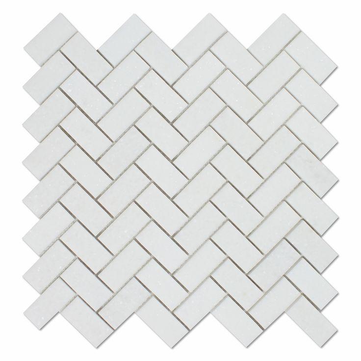 thassos white marble honed 1 x 2 herringbone mosaic tile u2013 american tile depot