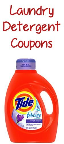 Laundry Detergent Coupons: 1.50 off 2 Tide, 1.00 off 1 Purex, 50c off 1 Tide Stain Eraser + more!