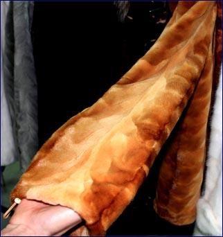 Норковая шуба из хвостиков лобиков