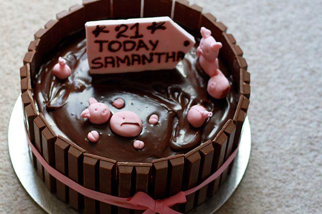 chocolate-mud-pool-birthday-cake  Crazy About Cakes  Pinterest