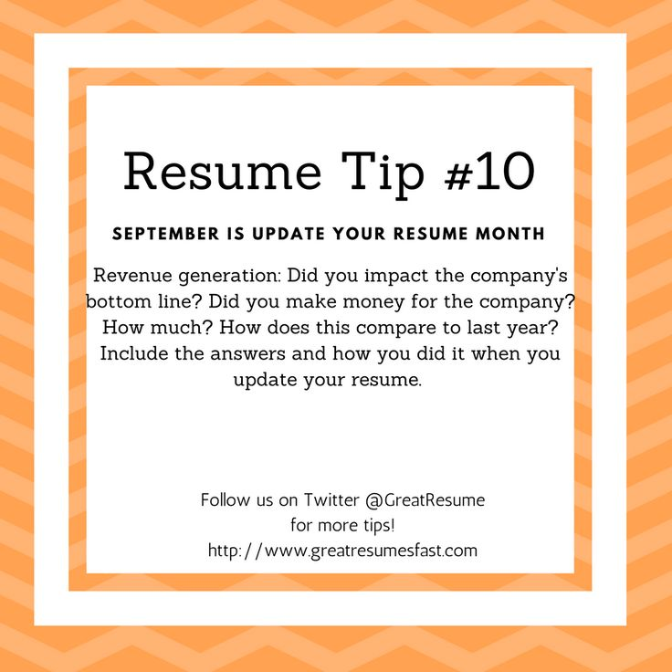 Resume Writing Tips For September Update Your Resume Month. Resume Tip #10 # Resume  Tips For Resume Writing