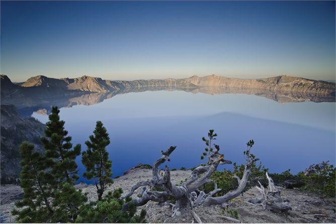 Crater Lake, Oregon. Il lago occupa la caldera di un vulcano esploso (@Corbis)