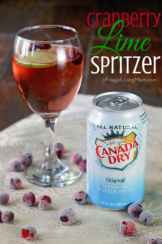 Cranberry Lime Spritzer Recipe Spritzer Cranberry Cranberry Juice Cocktail