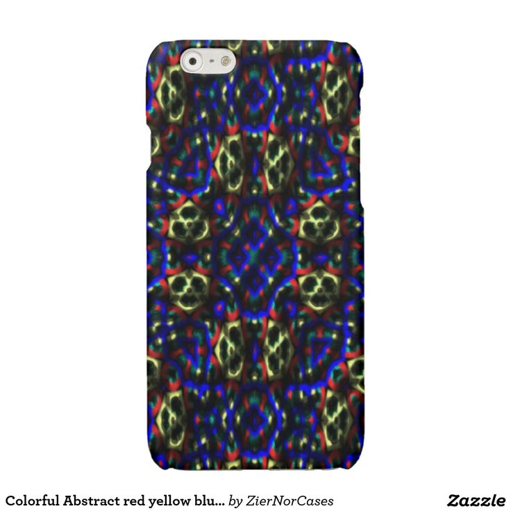 Colorful Abstract red yellow blue pattern Glossy iPhone 6 Case