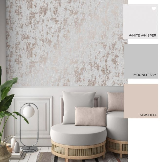 Milan Metallic Wallpaper Grey Rose Gold In 2020 Rose Gold Bedroom Wallpaper Wallpaper Bedroom Feature Wall Feature Wall Bedroom #rose #gold #and #grey #living #room #ideas