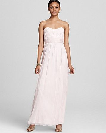 Amsale Strapless Dress - g733c (available at bloomingdales) for style and color (opal) style taken.  colour taken