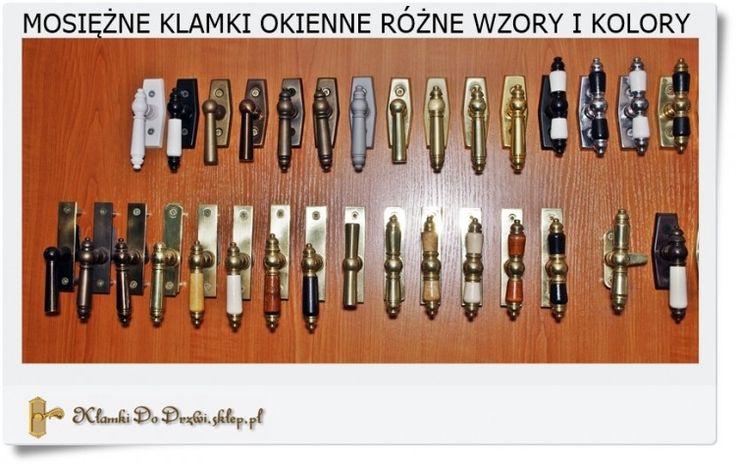 Klamki do okna z mosiądzu Polskie rzemiosło
