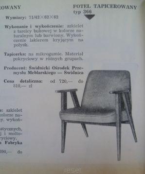 "1 fotel ""366"" J. Chierowski PEPITKA - Sklep internetowy RESET"