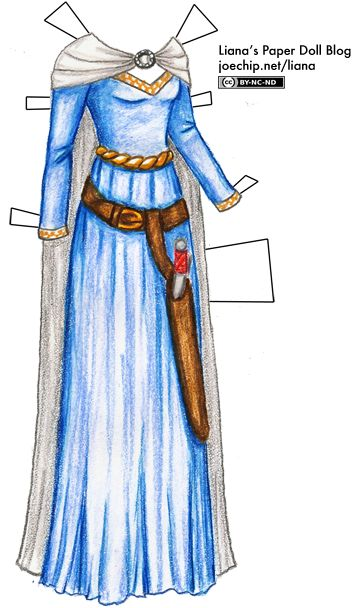 Queens of the Sea #5: Blue Gown and White Cloak for Grace O'Malley | Liana's Paper Dolls  Grace O'Malley, or Gráinne Ní Mháille in Gaelic, was a de facto Irish clan chieftain and pirate. She challenged English merchant ships and interrupted trading routes, which brought her to the attention of reigning monarch Elizabeth I.