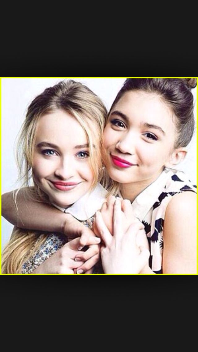 Sabrina Carpender & Rowan Blanchard, r so pretty I wish I was them