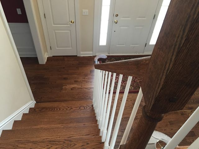Red Oak Staircase with Provincial Stain
