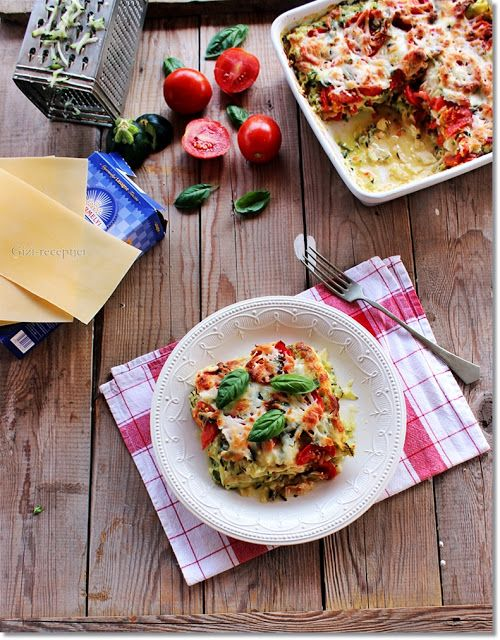 Gizi-receptjei.  Várok mindenkit.: Cukkinis-paradicsomos lasagne.