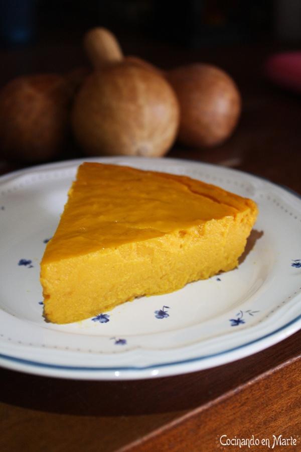 Tarta de calabaza y queso (ligera)