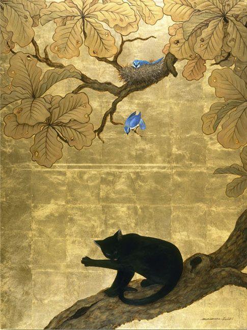 Black Cat and Bluebird, by Muramasa Kudo