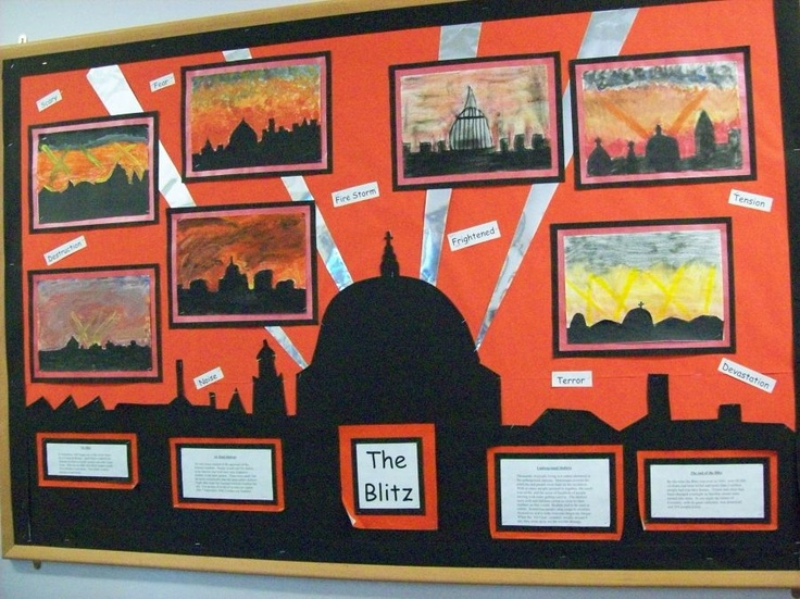 The Blitz - Cleadon Village Church Of England VA Primary School - Display