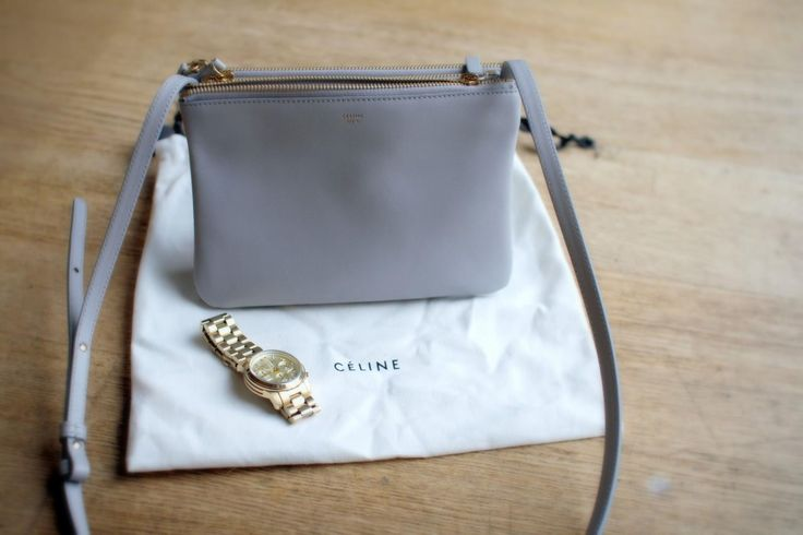 My Little Pearl Grey C¨¦line Trio Bag | Celine, Pearls and Grey
