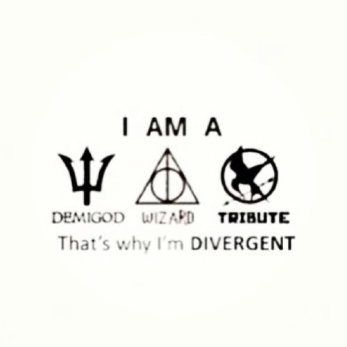 Most popular tags for this image include: divergent, harry potter, hunger games, percy jackson and demigod