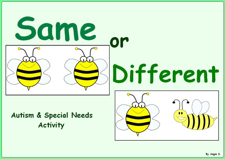 FREE! Same or Different Sorting - #Autism & Special Needs Activity This is a simple exercise to develop kids' discrimination ability. #Free For more great resources follow https://www.pinterest.com/angelajuvic/autism-special-education-resources-angie-s-tpt-sto/