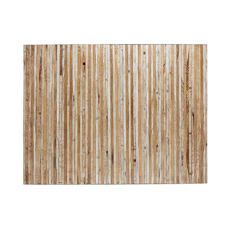 Tête de lit en manguier vieilli et blanchi L.160cm