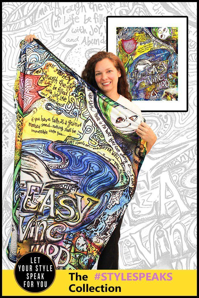 Life is Easy - Microsuede Blanket