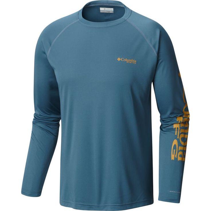 Columbia Men's PFG Terminal Tackle Long Sleeve Shirt, Size: 2XL, Blue Heron/Dark Banana