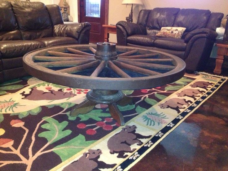 Wagon Wheel Coffee Table This Is A Real Wheel Off A Wagon
