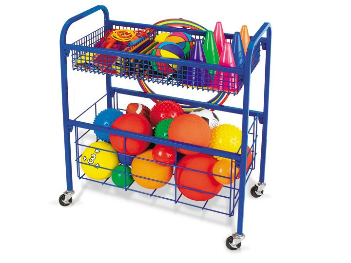 Keep game equipment neat, organized & all in one spot with Lakeshore's portable Indoor-Outdoor Equipment Cart!
