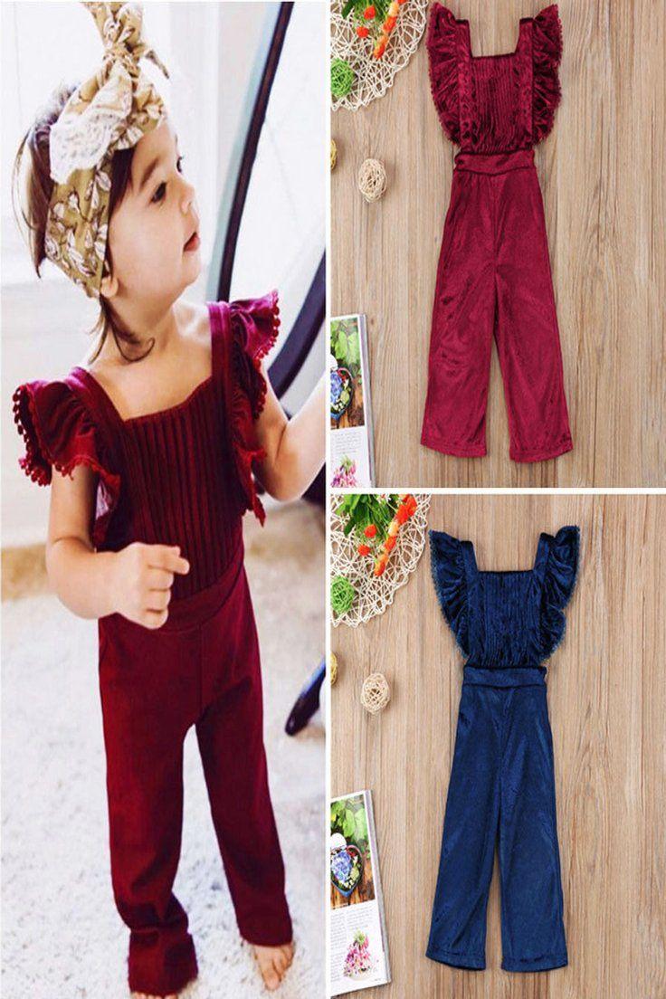 UK Toddler Kid Baby Girl Summer Clothes Ruffle Romper Playsuit Jumpsuit Bodysuit