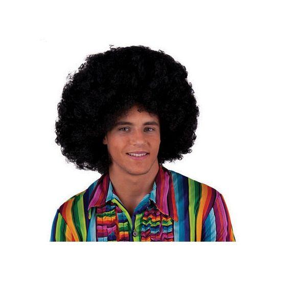 Grote zwarte afropruiken  Zwarte afropruik. Zwarte Afro pruiken hebben wij in vele andere kleuren. Deze zwarte afropruik is van goede kwaliteit. Leuk voor op een Seventies feest te gebruiken als u verkleed gaat! De pruik is geschikt voor volwassenen.  EUR 9.95  Meer informatie