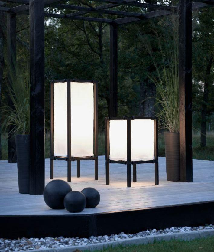 Japanese Shoji Style Freestanding Patio Lights Outdoor Floor